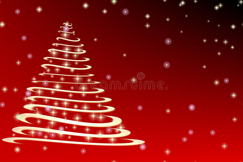 Spiral Christmas tree stock images