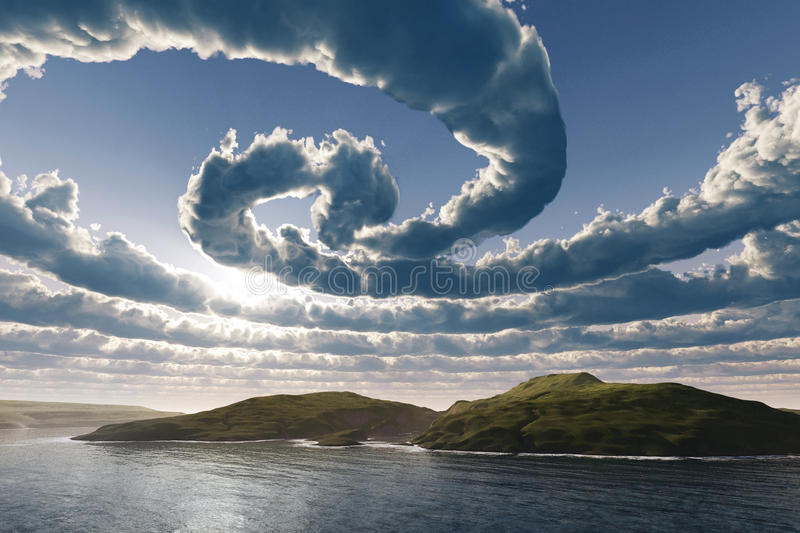 Spiral clouds royalty free illustration