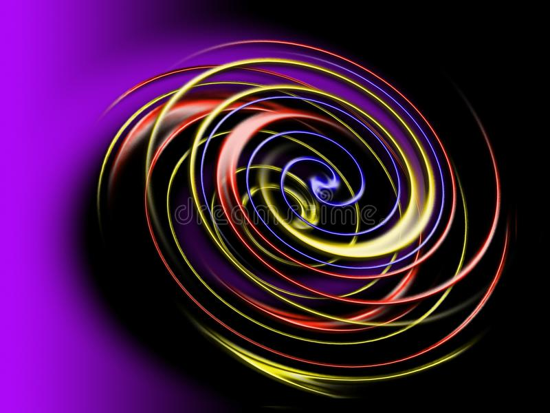 Spiral in the dark royalty free stock image