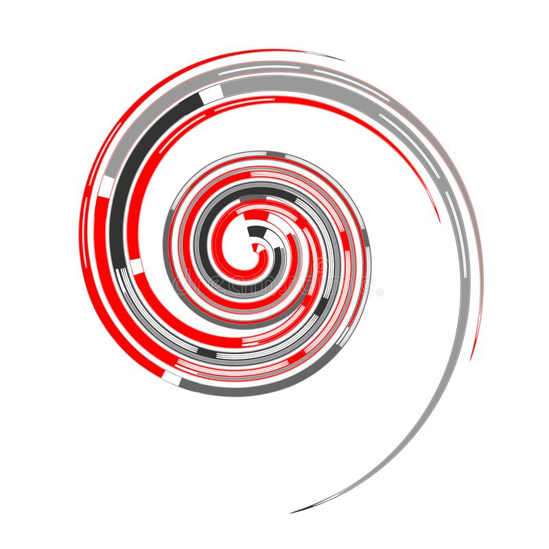 Spiral design element. Vortex movement. stock illustration