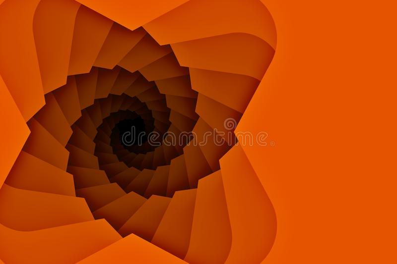 Spiral downward Staircase Background with copy space stock illustration