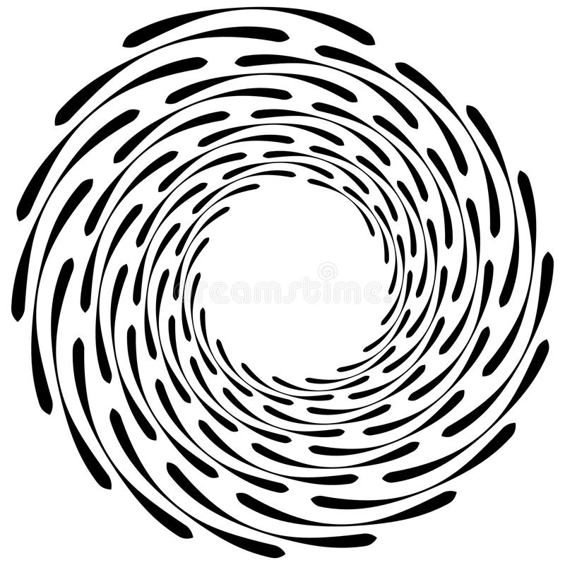 Spiral element. Concentric swirling shape with lines rotating in. Wards. Helix, volute illustration. - Royalty free vector illustration vector illustration