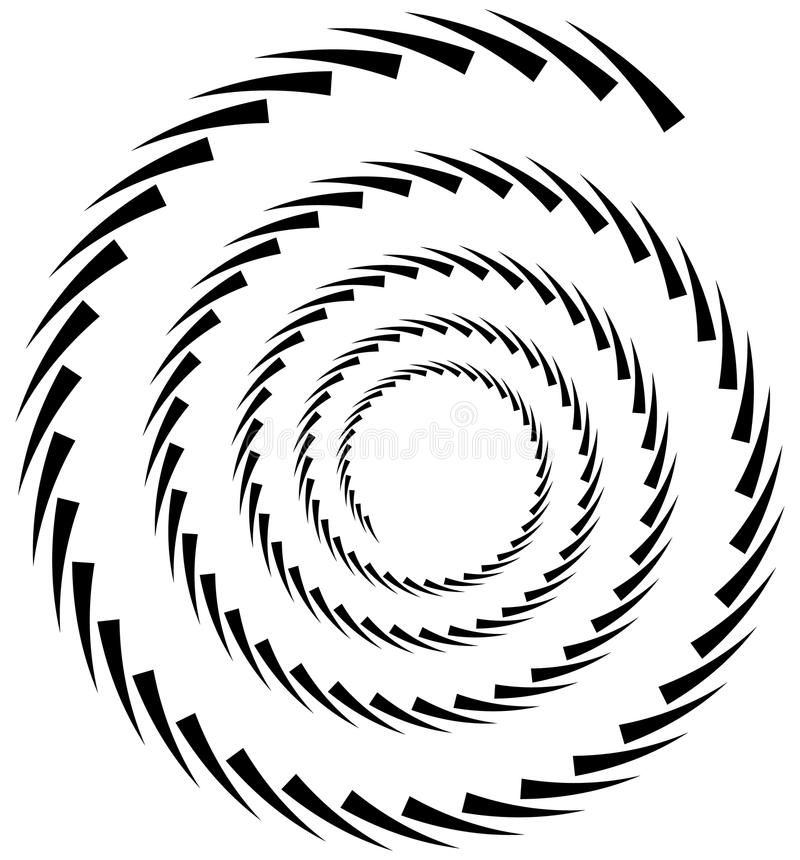 Spiral element. Concentric swirling shape with lines rotating in. Wards. Helix, volute illustration. - Royalty free vector illustration stock illustration