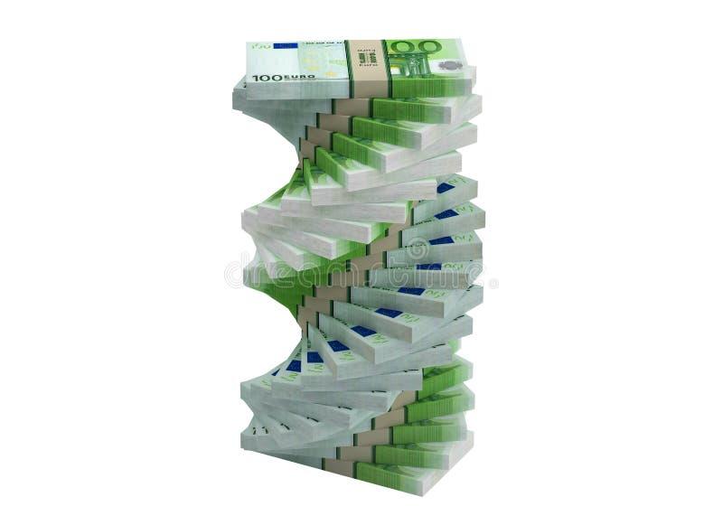 Download Spiral Of 100 Euro Banknotes Stock Illustration - Image: 32925833