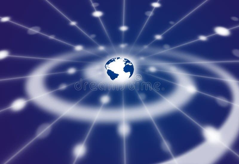 spiral för avstånd för nätverk för comm-jordgalax royaltyfri illustrationer