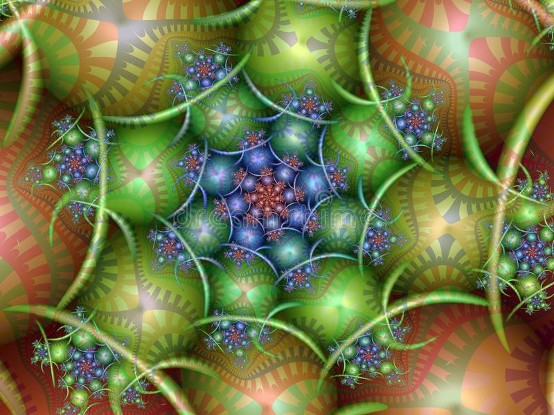 Spiral för påskägg stock illustrationer