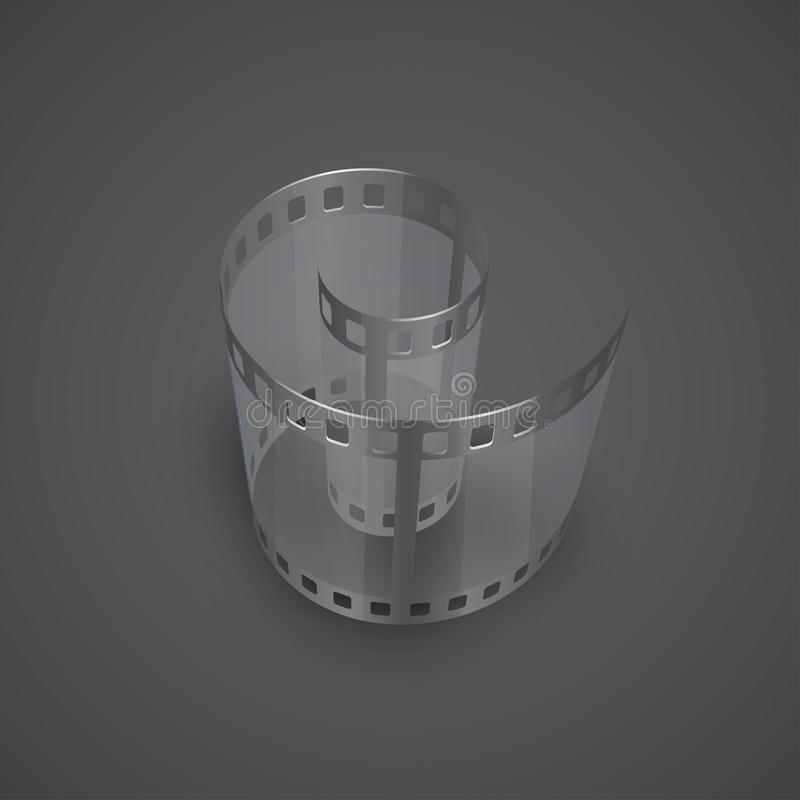 Spiral of film strip royalty free illustration