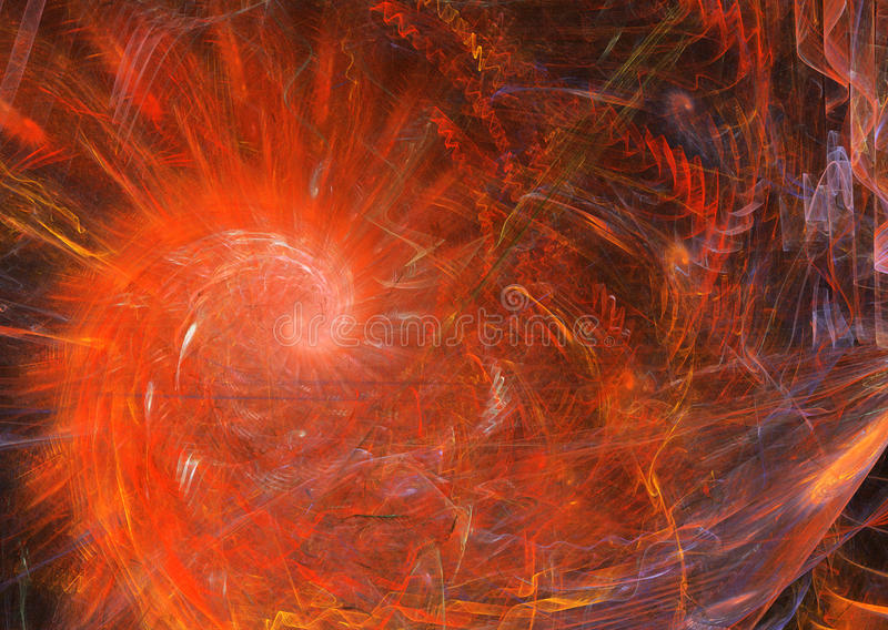 Spiral Flame Red Royalty Free Stock Images