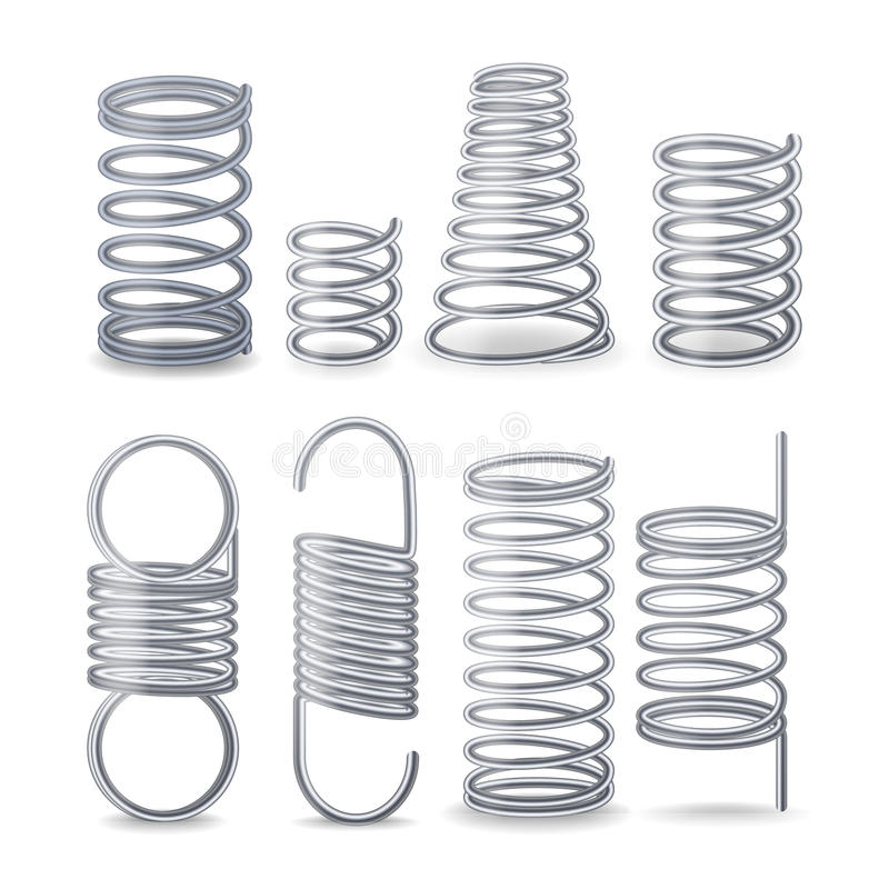 Spiral Flexible Wire. Springs Of Compression, Tension And Torsion ...
