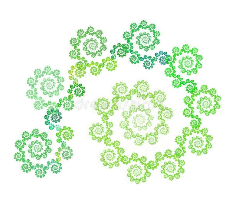 Spiral floral fractal stock photography