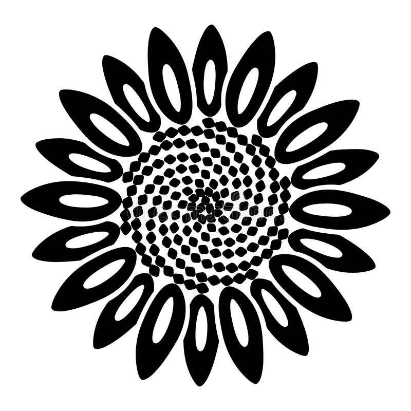 Spiral flower icon, simple style vector illustration