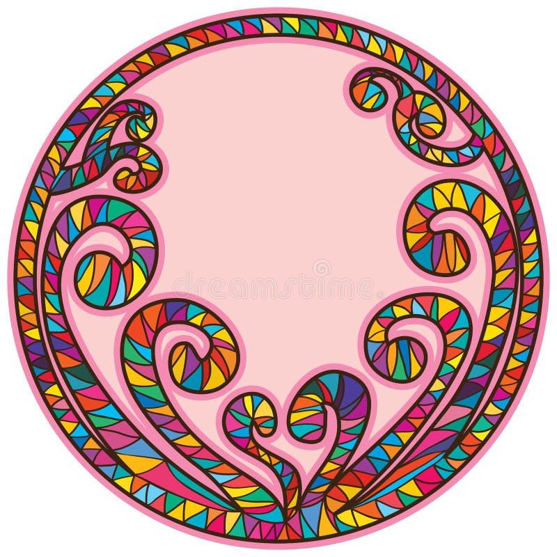 Spiral form för pinneramcirkel royaltyfri illustrationer