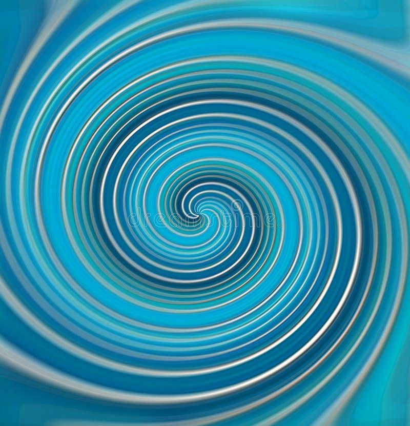 Spiral från färglinjer stock illustrationer