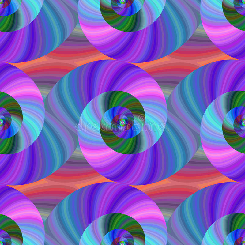 Spiral fractal pattern in bright colors royalty free stock image
