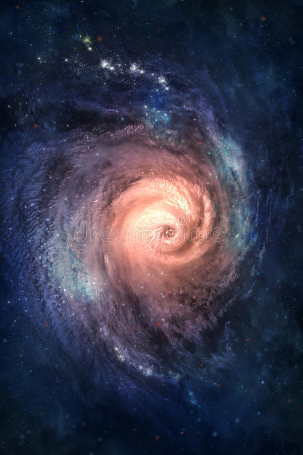 Spiral galaxy. Somewhere in deep space stock photos