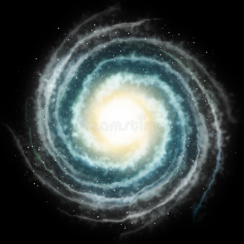 Spiral galaxy stock illustration