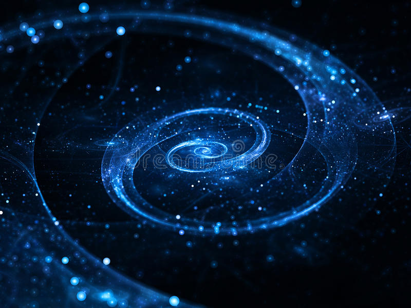 Spiral galaxy in deep space royalty free illustration