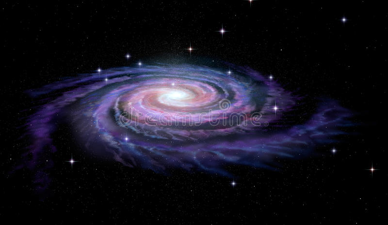 Spiral Galaxy Milky Way royalty free illustration