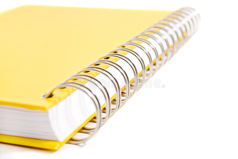 Spiral joint of yellow diary book
