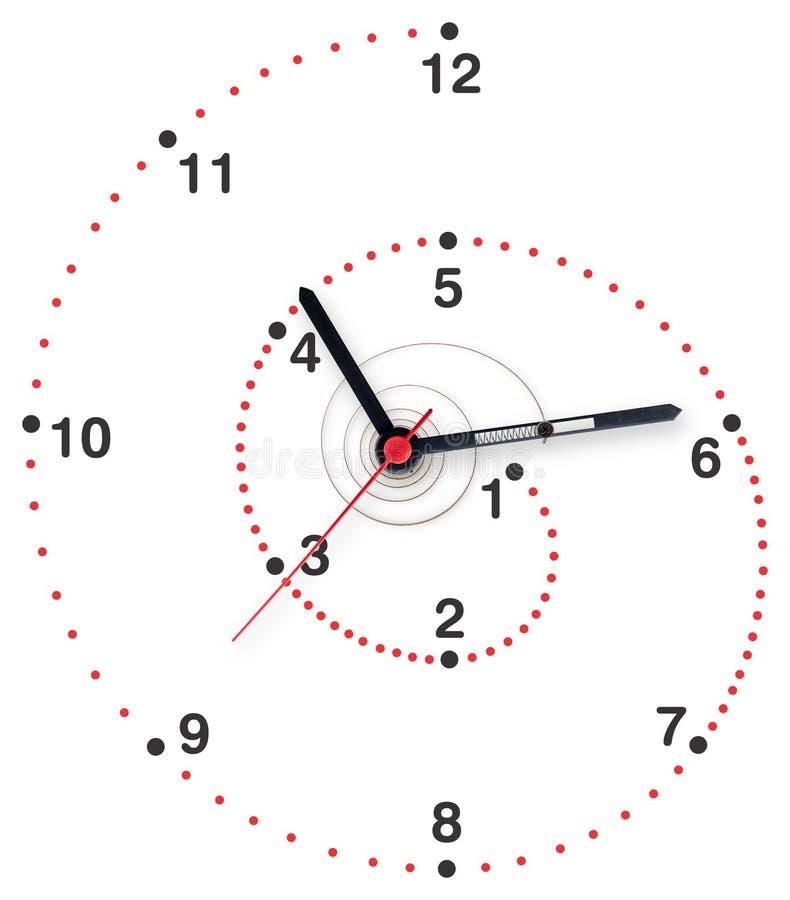 Spiral klocka arkivfoto