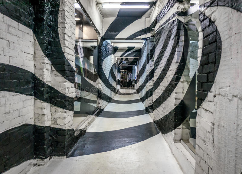 Spiral korridor arkivbild