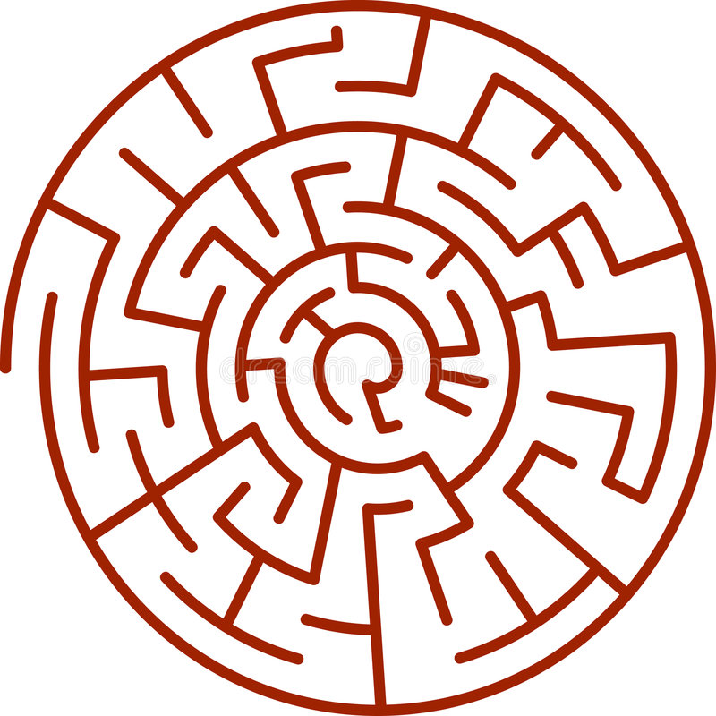 Download Spiral labyrinth stock vector. Illustration of hint, find - 8634758