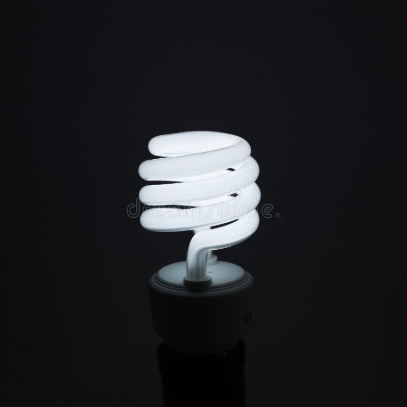 Spiral Light bulb stock images