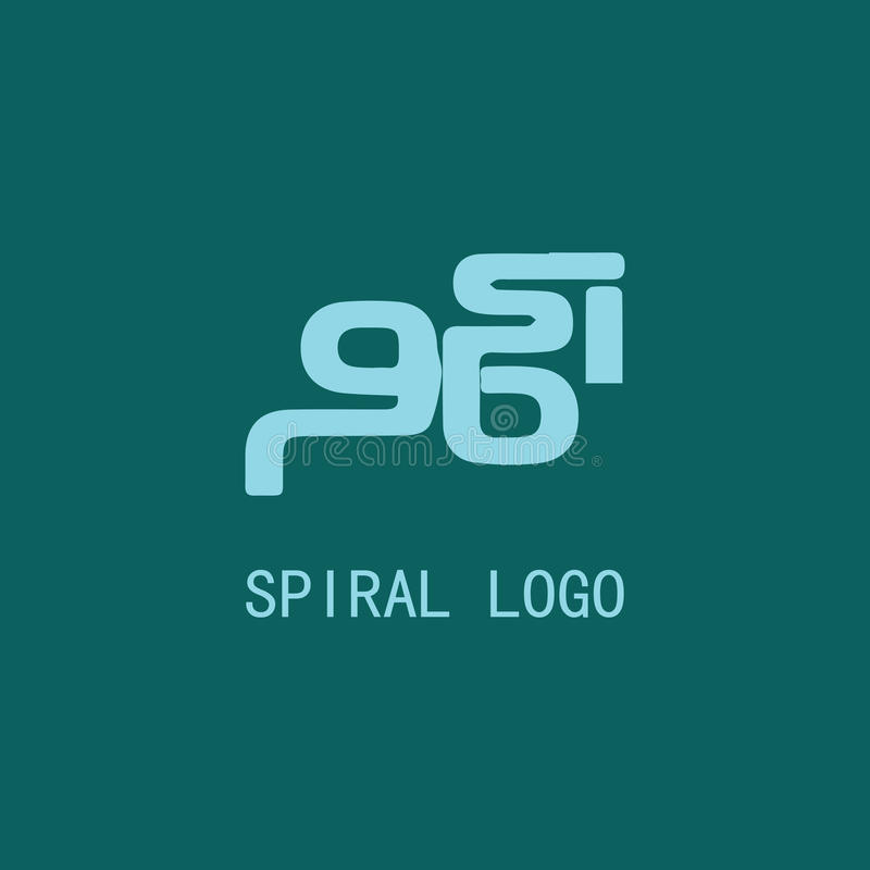 Spiral logo abstract vector illustration