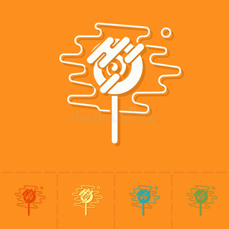 Spiral Lollipop. Modern Flat Icon royalty free illustration