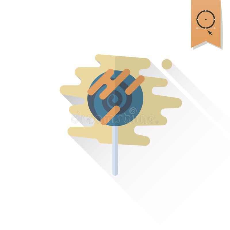 Spiral Lollipop. Modern Flat Icon vector illustration