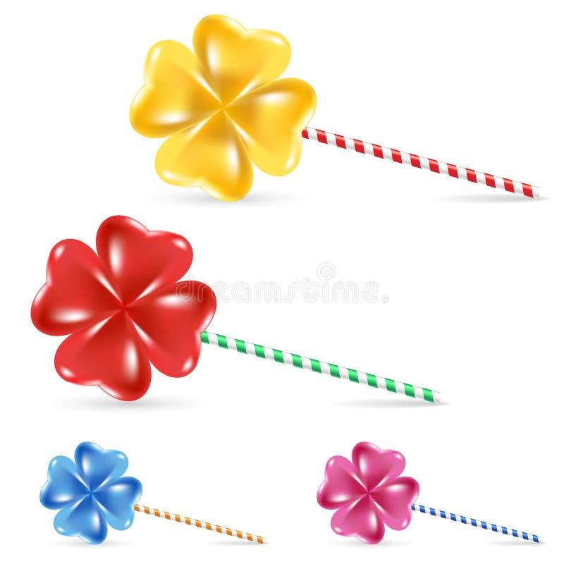 Download Spiral lollipop set stock illustration. Illustration of food - 21582662