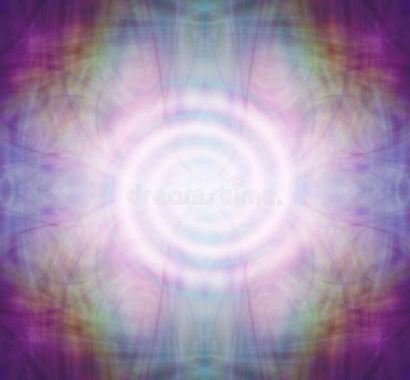 Spiral meditationMandala royaltyfri illustrationer