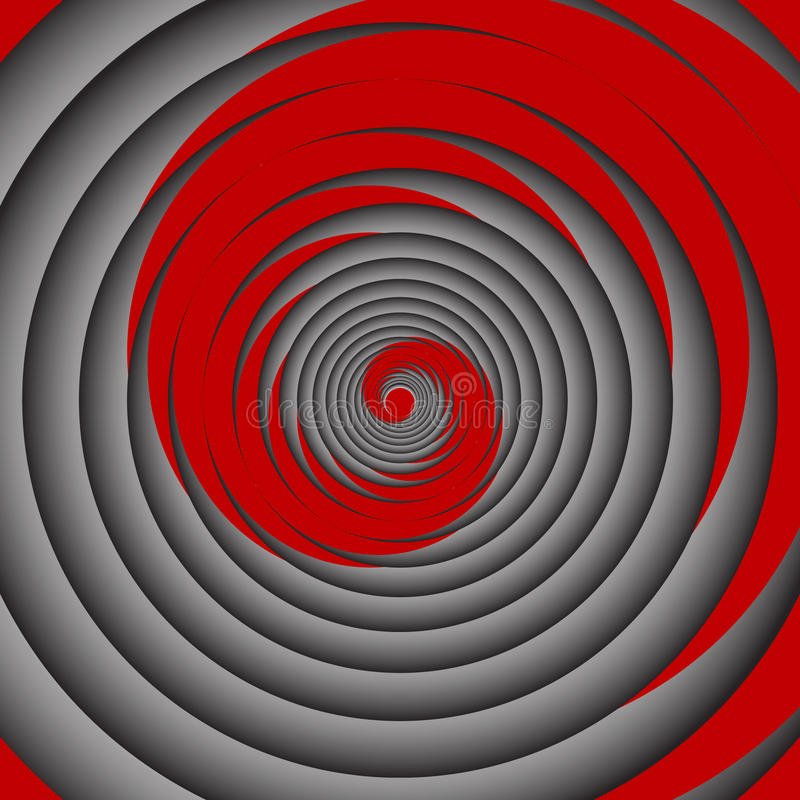 Spiral motion #5. Vector illustration royalty free illustration
