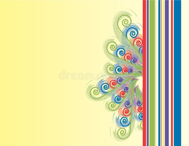 Spiral n Stripe Background royalty free illustration