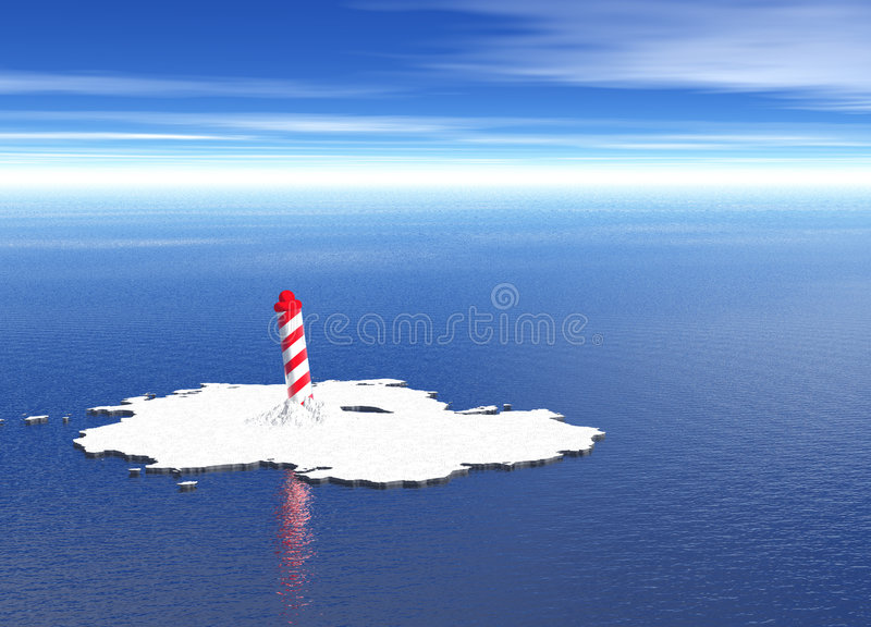 Spiral North Pole on Melted Icecap. Spiral North South Pole on Melted Icecap vector illustration