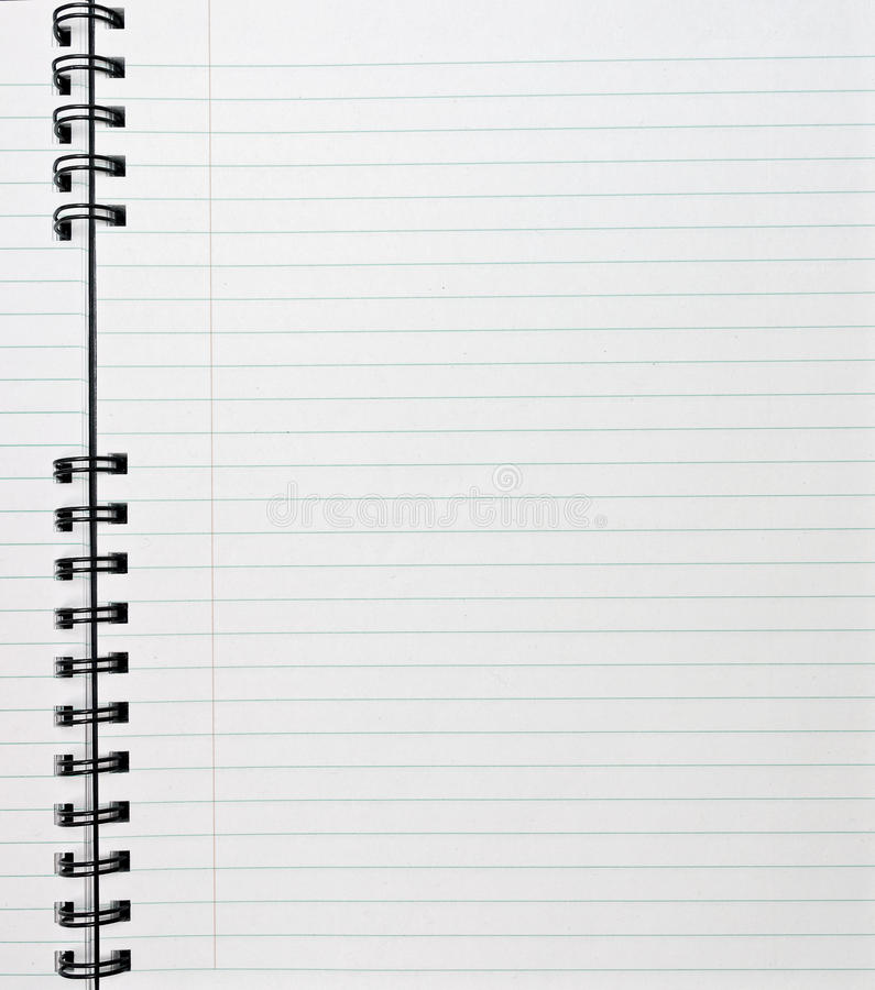 Free Spiral Notebook Stock Photography - 12194282