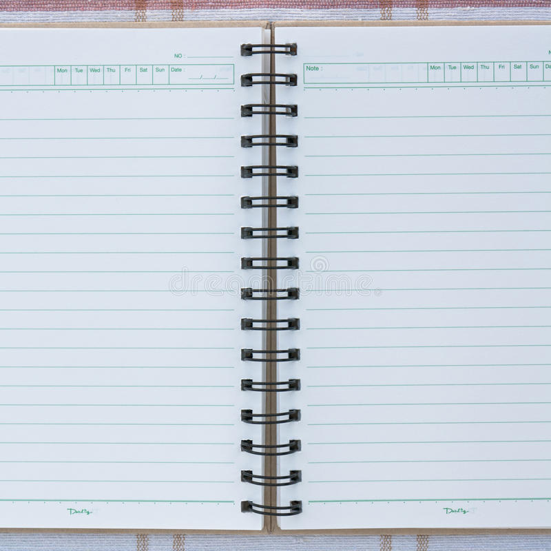 Download A spiral notebook. stock illustration. Image of organiser - 22660936