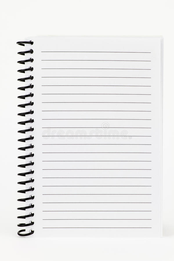 Download Spiral Notebook stock image. Image of lined, white, background - 26830911