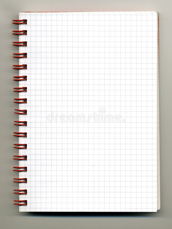 Download Spiral notebook stock photo. Image of note, bound, draw - 4462200