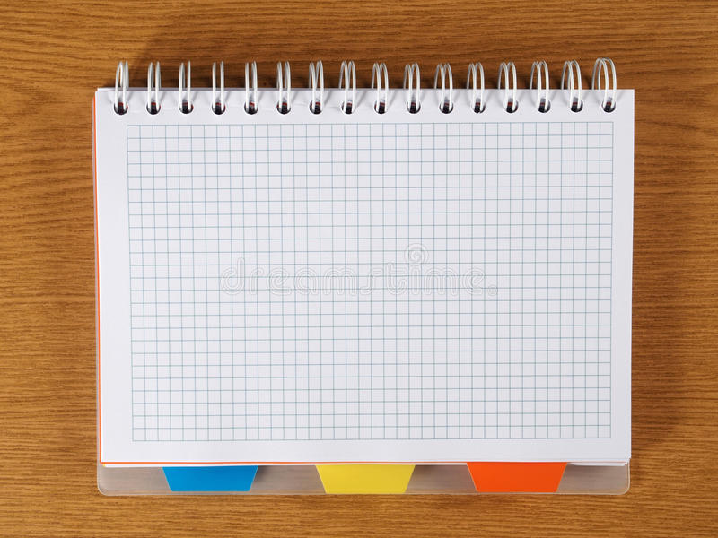 Download Spiral Notebook stock image. Image of blank, page, desk - 34266341