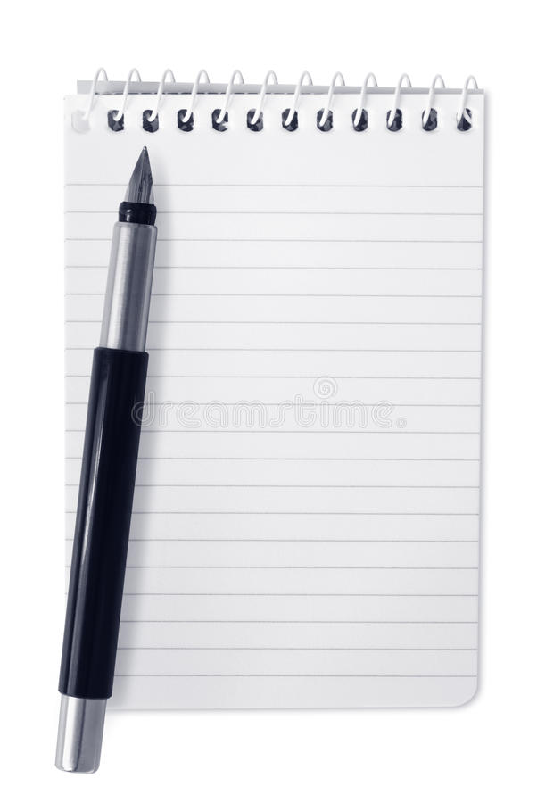 Download Spiral Notebook With Pen Royalty Free Stock Photo - Image: 14855025