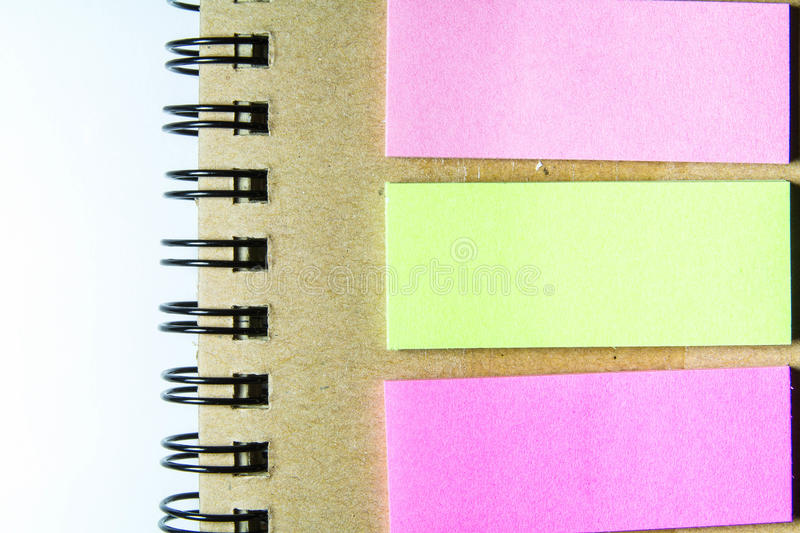 Spiral Notebook And Post-it Royalty Free Stock Photos