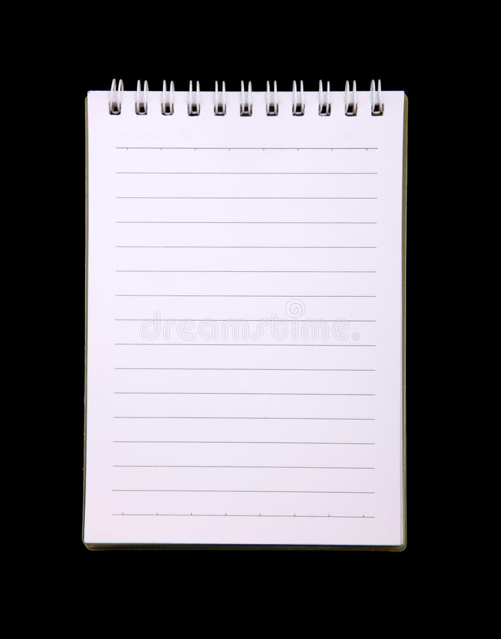 Spiral Notebook with striped paper royalty free stock images