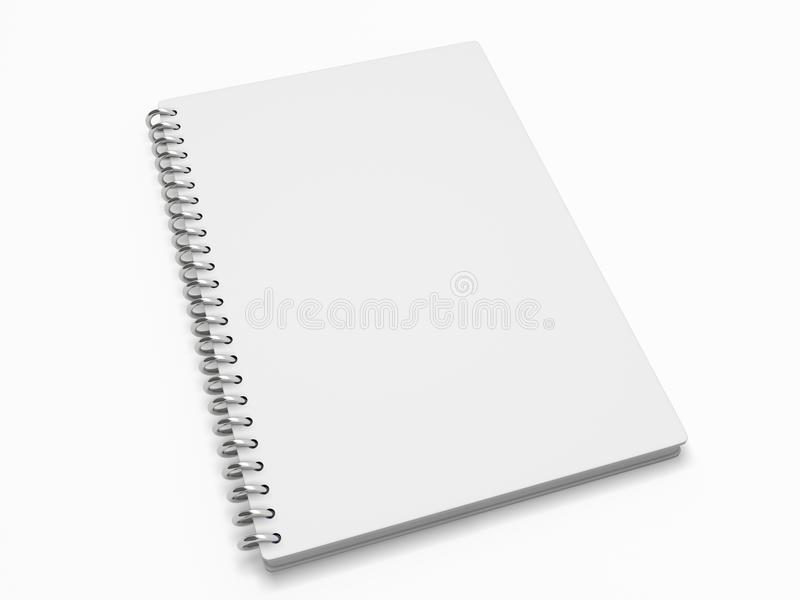 Spiral notebook royalty free illustration