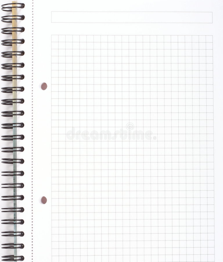 Download Spiral notepad stock image. Image of clean, notepad, black - 5349895