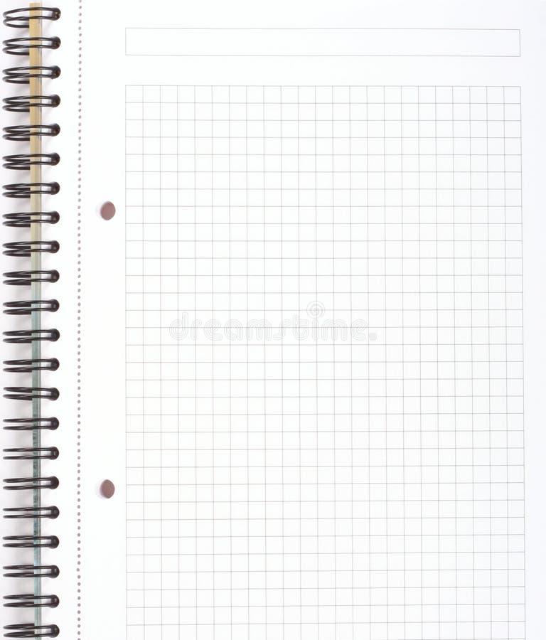 Spiral notepad royalty free stock photo