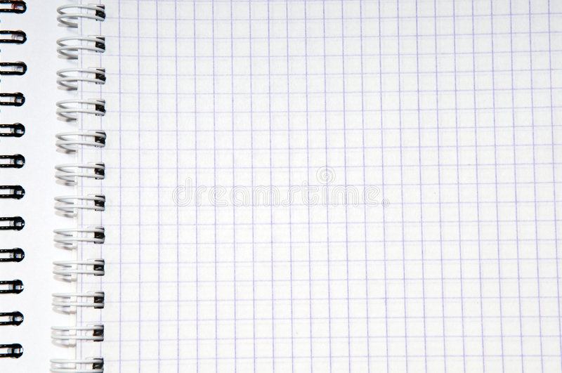 Spiral notepad close up. Spiral notepad with copy space for your text stock photos