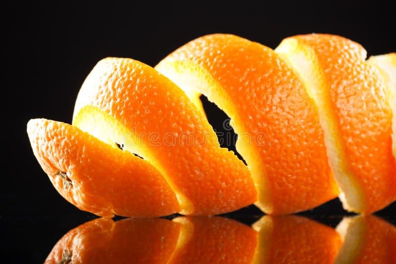 Spiral orange peel royalty free stock photography