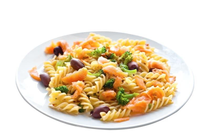 Spiral Pasta With Smoke Salmon And Broccoli