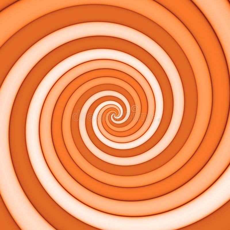 Spiral pattern background in orange. Spectrum royalty free illustration